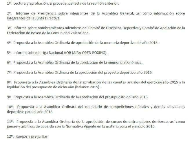 ORDEN DEL DIA ASAMBLEA 0116